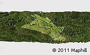 Satellite Panoramic Map of Zhenfeng, darken
