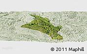 Satellite Panoramic Map of Zhenfeng, lighten