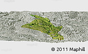 Satellite Panoramic Map of Zhenfeng, lighten, semi-desaturated