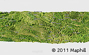 Satellite Panoramic Map of Zhenfeng