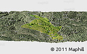 Satellite Panoramic Map of Zhenfeng, semi-desaturated