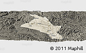 Shaded Relief Panoramic Map of Zhenfeng, darken