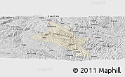 Shaded Relief Panoramic Map of Zhenfeng, desaturated