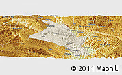 Shaded Relief Panoramic Map of Zhenfeng, physical outside