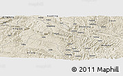 Shaded Relief Panoramic Map of Zhenfeng