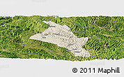 Shaded Relief Panoramic Map of Zhenfeng, satellite outside
