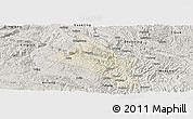 Shaded Relief Panoramic Map of Zhenfeng, semi-desaturated
