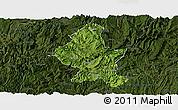 Satellite Panoramic Map of Zheng An, darken