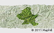 Satellite Panoramic Map of Zheng An, lighten