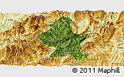 Satellite Panoramic Map of Zheng An, physical outside