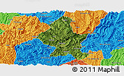 Satellite Panoramic Map of Zheng An, political outside