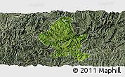 Satellite Panoramic Map of Zheng An, semi-desaturated