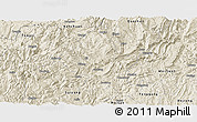 Shaded Relief Panoramic Map of Zheng An