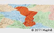Political Panoramic Map of Zhenning, lighten