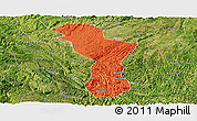 Political Panoramic Map of Zhenning, satellite outside