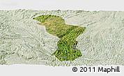 Satellite Panoramic Map of Zhenning, lighten