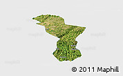 Satellite Panoramic Map of Zhenning, single color outside