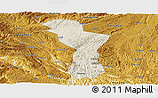Shaded Relief Panoramic Map of Zhenning, physical outside