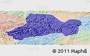Political Panoramic Map of Zhijin, lighten