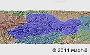 Political Panoramic Map of Zhijin, semi-desaturated