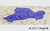 Political Panoramic Map of Zhijin, shaded relief outside
