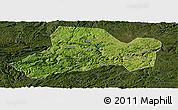 Satellite Panoramic Map of Zhijin, darken