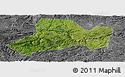 Satellite Panoramic Map of Zhijin, desaturated