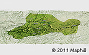 Satellite Panoramic Map of Zhijin, lighten