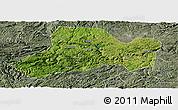 Satellite Panoramic Map of Zhijin, semi-desaturated
