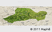 Satellite Panoramic Map of Zhijin, shaded relief outside