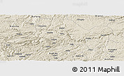 Shaded Relief Panoramic Map of Zhijin