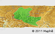 Political Panoramic Map of Ziyun, physical outside