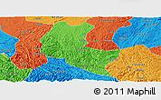 Political Panoramic Map of Ziyun