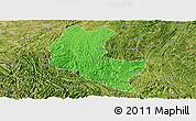 Political Panoramic Map of Ziyun, satellite outside