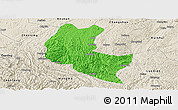Political Panoramic Map of Ziyun, shaded relief outside