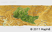 Satellite Panoramic Map of Ziyun, physical outside