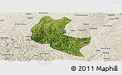 Satellite Panoramic Map of Ziyun, shaded relief outside