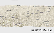 Shaded Relief Panoramic Map of Ziyun