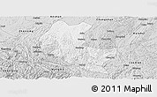 Silver Style Panoramic Map of Ziyun