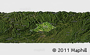 Satellite Panoramic Map of Zunyi Shi, darken