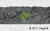 Satellite Panoramic Map of Zunyi Shi, desaturated