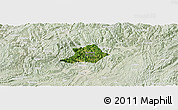 Satellite Panoramic Map of Zunyi Shi, lighten
