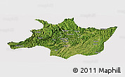Satellite Panoramic Map of Zunyi, cropped outside