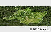 Satellite Panoramic Map of Zunyi, darken