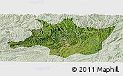 Satellite Panoramic Map of Zunyi, lighten