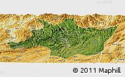 Satellite Panoramic Map of Zunyi, physical outside