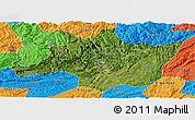 Satellite Panoramic Map of Zunyi, political outside