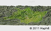 Satellite Panoramic Map of Zunyi, semi-desaturated