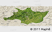 Satellite Panoramic Map of Zunyi, shaded relief outside
