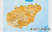Political Shades 3D Map of Hainan